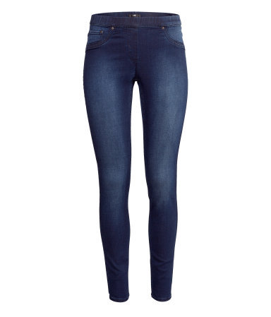 Super Stretch Treggings - length: standard; pattern: plain; style: jeggings; waist: mid/regular rise; predominant colour: denim; occasions: casual, creative work; fibres: cotton - stretch; jeans detail: shading down centre of thigh; texture group: denim; pattern type: fabric; season: a/w 2013