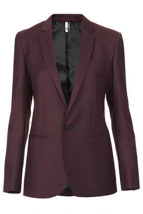 Modern Tailoring Tailored Suit Blazer - pattern: plain; style: single breasted blazer; length: below the bottom; collar: standard lapel/rever collar; predominant colour: aubergine; occasions: evening, work, occasion, creative work; fit: tailored/fitted; fibres: polyester/polyamide - mix; sleeve length: long sleeve; sleeve style: standard; collar break: low/open; texture group: other - light to midweight; season: a/w 2013