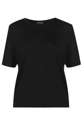 Slinky Tee - neckline: round neck; pattern: plain; style: t-shirt; predominant colour: black; occasions: casual, evening, work, creative work; length: standard; fibres: viscose/rayon - stretch; fit: body skimming; sleeve length: short sleeve; sleeve style: standard; pattern type: fabric; texture group: jersey - stretchy/drapey; season: a/w 2013