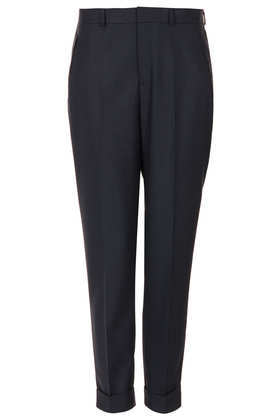 Modern Tailoring Textured Cigarette Trouser - length: standard; pattern: plain; style: peg leg; waist: mid/regular rise; predominant colour: navy; occasions: evening, work, creative work; fibres: polyester/polyamide - mix; fit: tapered; texture group: woven light midweight; season: a/w 2013
