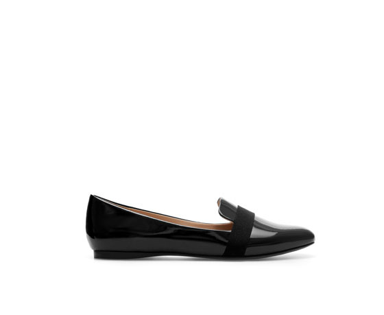 Patent Leather Slip On Shoes - predominant colour: black; occasions: casual, evening, work, creative work; material: leather; heel height: flat; toe: round toe; style: loafers; finish: patent; pattern: plain; season: a/w 2013