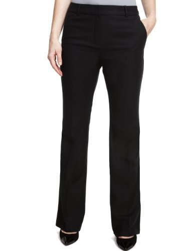 M&S Collection New Wool Blend Slim Bootleg Trousers With Cashmere - length: standard; pattern: plain; waist: high rise; predominant colour: black; occasions: evening, work; fibres: wool - mix; fit: bootcut; pattern type: fabric; texture group: woven light midweight; style: standard; season: a/w 2013
