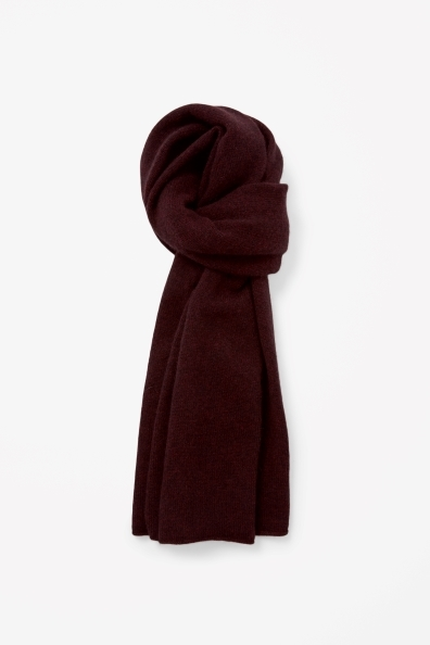 Cashmere Scarf - predominant colour: burgundy; occasions: casual, evening, work, creative work; type of pattern: standard; style: regular; size: standard; pattern: plain; material: cashmere; trends: broody brights; season: a/w 2013