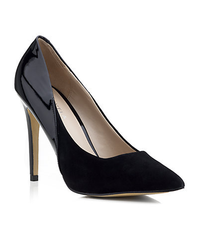 Ash Court - predominant colour: black; occasions: evening, work, occasion, creative work; material: suede; heel: stiletto; toe: pointed toe; style: courts; finish: plain; pattern: plain; heel height: very high; season: a/w 2013