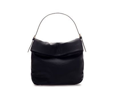 Large Hobo Bag - predominant colour: black; occasions: casual, creative work; type of pattern: standard; length: shoulder (tucks under arm); size: standard; material: faux leather; pattern: plain; finish: plain; style: hobo; season: a/w 2013