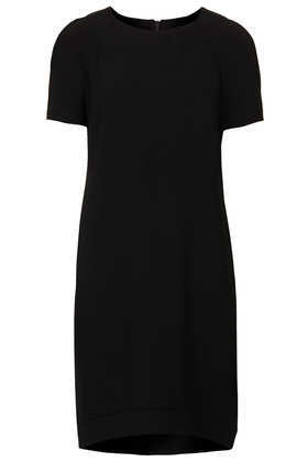 Tall Crepe Tee Shift Dress - style: t-shirt; fit: loose; pattern: plain; predominant colour: black; occasions: casual, evening, work, creative work; length: just above the knee; fibres: polyester/polyamide - stretch; neckline: crew; sleeve length: short sleeve; sleeve style: standard; texture group: crepes; trends: gorgeous grunge, 1940's hitchcock heroines; season: a/w 2013