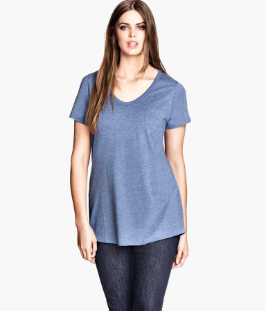 + Short Sleeved Top - pattern: plain; length: below the bottom; predominant colour: royal blue; occasions: casual, creative work; style: top; neckline: scoop; fibres: polyester/polyamide - stretch; fit: loose; sleeve length: short sleeve; sleeve style: standard; texture group: jersey - stretchy/drapey; season: a/w 2013