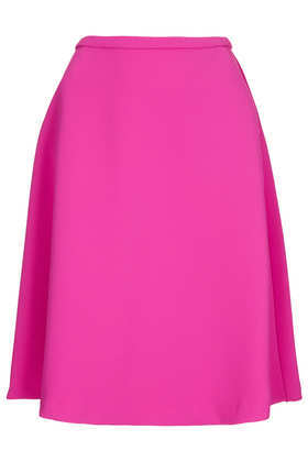 Heavy Crepe Full Skirt - pattern: plain; style: full/prom skirt; fit: loose/voluminous; waist: mid/regular rise; predominant colour: hot pink; occasions: casual, evening, creative work; length: just above the knee; fibres: polyester/polyamide - 100%; texture group: crepes; season: a/w 2013