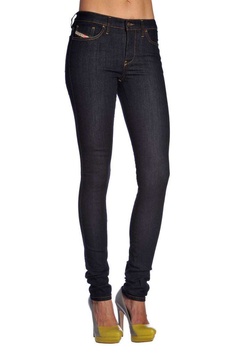 Skinzee L.32 Trousers, Denim - length: standard; pattern: plain; pocket detail: traditional 5 pocket; waist: mid/regular rise; predominant colour: navy; occasions: casual, creative work; fibres: cotton - stretch; texture group: denim; fit: skinny/tight leg; style: standard; season: a/w 2013