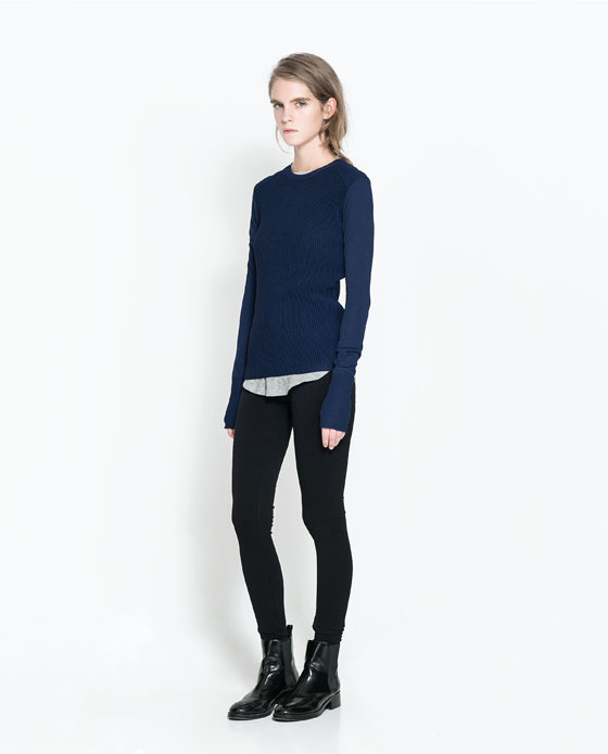 Slim Leggings - length: standard; pattern: plain; style: leggings; waist: mid/regular rise; predominant colour: black; occasions: casual, creative work; fibres: polyester/polyamide - stretch; texture group: jersey - clingy; fit: skinny/tight leg; pattern type: fabric; season: a/w 2013