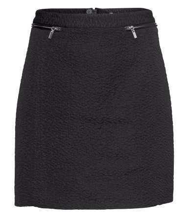 Short Skirt - length: mini; pattern: plain; fit: tailored/fitted; waist: high rise; predominant colour: black; occasions: casual, evening, creative work; style: mini skirt; fibres: polyester/polyamide - mix; pattern type: fabric; texture group: other - light to midweight; season: a/w 2013