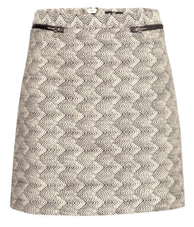 Short Skirt - length: mini; fit: tailored/fitted; waist: mid/regular rise; predominant colour: nude; secondary colour: mid grey; occasions: casual, evening, creative work; style: mini skirt; fibres: cotton - mix; pattern type: fabric; pattern: patterned/print; texture group: woven light midweight; trends: playful prints; season: a/w 2013; pattern size: standard (bottom)