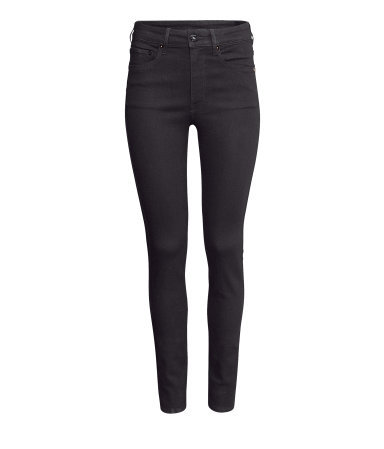 Skinny High Jeans - style: skinny leg; length: standard; pattern: plain; waist: high rise; pocket detail: traditional 5 pocket; predominant colour: black; occasions: casual, evening, creative work; fibres: cotton - stretch; jeans detail: dark wash; texture group: denim; pattern type: fabric; trends: gorgeous grunge; season: a/w 2013