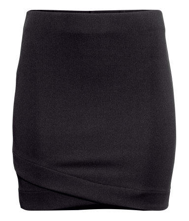 Jersey Skirt - length: mini; pattern: plain; fit: tight; waist: mid/regular rise; predominant colour: black; occasions: casual, evening, work, creative work; fibres: polyester/polyamide - stretch; style: tube; texture group: jersey - clingy; pattern type: fabric; season: a/w 2013