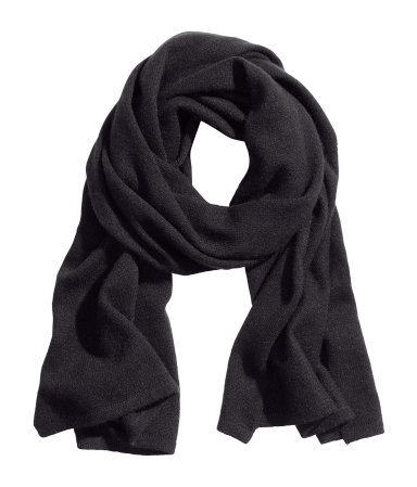 Cashmere Scarf - predominant colour: black; occasions: casual, work, creative work; style: regular; size: standard; material: knits; pattern: plain; season: a/w 2013