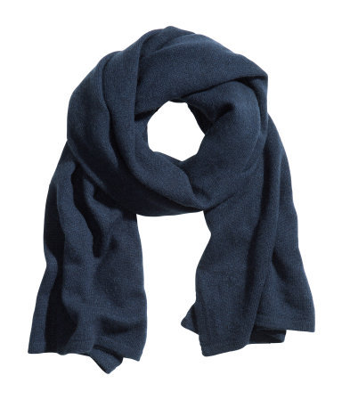 Cashmere Scarf - predominant colour: navy; occasions: casual, work; style: regular; size: standard; material: knits; pattern: plain; season: a/w 2013