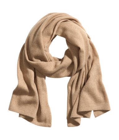 Cashmere Scarf - predominant colour: camel; occasions: casual, creative work; style: regular; size: standard; material: knits; pattern: plain; season: a/w 2013