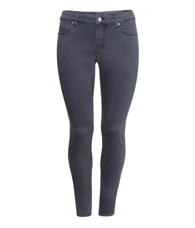 + Superstretch Jeans - style: skinny leg; length: standard; pattern: plain; pocket detail: traditional 5 pocket; waist: mid/regular rise; predominant colour: charcoal; occasions: casual, evening, creative work; fibres: cotton - stretch; jeans detail: dark wash; texture group: denim; season: a/w 2013