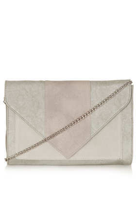 Large Envelope Clutch - predominant colour: ivory/cream; occasions: casual, evening, occasion; type of pattern: light; style: clutch; length: hand carry; size: standard; material: faux leather; pattern: plain; finish: plain; season: a/w 2013