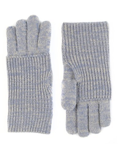 M&S Collection Knitted Turn Up Gloves - predominant colour: light grey; occasions: casual, work, creative work; style: standard; length: wrist; material: knits; pattern: plain; season: a/w 2013