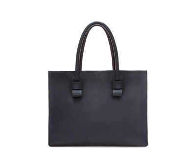 Limited Editionstructured Leather Shopper - predominant colour: black; occasions: casual, creative work; type of pattern: standard; style: shoulder; length: handle; size: oversized; material: leather; pattern: plain; finish: plain; season: a/w 2013