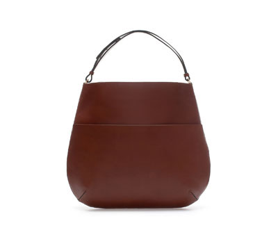 Limited Editionleather Shopper With Buckles - predominant colour: burgundy; occasions: casual, work, creative work; style: shoulder; length: handle; size: oversized; material: leather; pattern: plain; finish: plain; trends: broody brights; season: a/w 2013