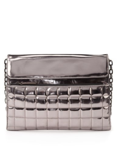 Limited Edition Quilted Clutch Bag - predominant colour: silver; occasions: casual, evening, occasion, creative work; type of pattern: standard; style: clutch; length: hand carry; size: standard; material: faux leather; embellishment: quilted; pattern: plain; finish: metallic; season: a/w 2013