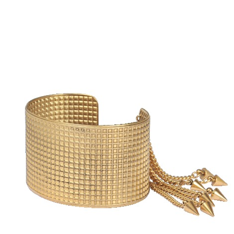 Bonnie Grids Cuff - predominant colour: gold; occasions: evening, occasion, creative work; style: cuff; size: large/oversized; material: chain/metal; finish: metallic; embellishment: studs; season: a/w 2013