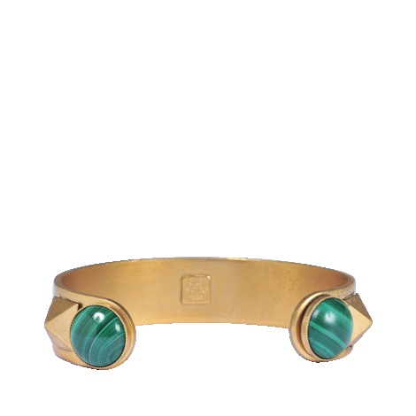 Any Ana Bracelet - secondary colour: emerald green; predominant colour: gold; occasions: casual, evening, occasion, holiday, creative work; style: cuff; size: small/fine; material: chain/metal; finish: metallic; embellishment: beading; season: a/w 2013