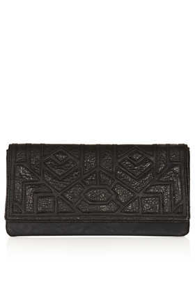 Merino Cutwork Clutch - predominant colour: black; occasions: casual, evening, occasion; type of pattern: standard; style: clutch; length: hand carry; size: standard; material: faux leather; finish: plain; pattern: patterned/print; trends: gorgeous grunge; season: a/w 2013