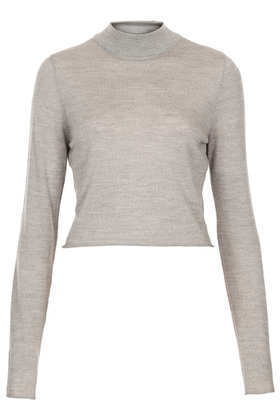 Knitted Merino Turtle Jumper - pattern: plain; neckline: high neck; length: cropped; style: standard; predominant colour: stone; occasions: casual, work, creative work; fibres: wool - 100%; fit: standard fit; sleeve length: long sleeve; sleeve style: standard; texture group: knits/crochet; season: a/w 2013