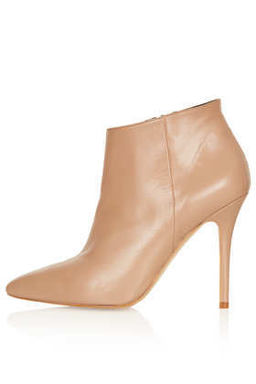 Aloof Shoe Boots - predominant colour: camel; material: leather; heel height: high; heel: stiletto; toe: pointed toe; boot length: ankle boot; style: standard; finish: plain; pattern: plain; occasions: creative work; season: a/w 2013