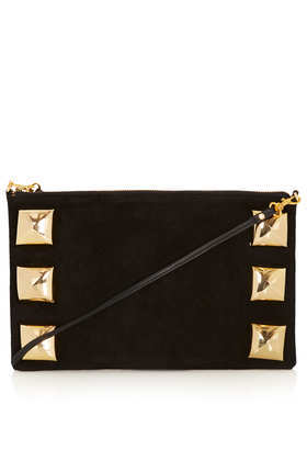 Oversize Pyramid Stud Clutch - predominant colour: black; occasions: casual, evening, work, occasion, creative work; style: clutch; length: hand carry; size: small; material: leather; embellishment: studs; pattern: plain; finish: plain; trends: excess embellishment; season: a/w 2013
