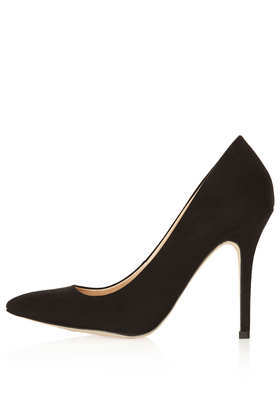 Simple Court Shoes - predominant colour: black; occasions: evening, work, occasion, creative work; material: suede; heel height: high; heel: stiletto; toe: pointed toe; style: courts; finish: plain; pattern: plain; season: a/w 2013