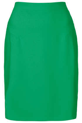 Green Crepe Pencil Skirt - pattern: plain; style: pencil; fit: tailored/fitted; waist: high rise; predominant colour: mint green; occasions: evening, work, creative work; length: on the knee; fibres: polyester/polyamide - stretch; texture group: crepes; pattern type: fabric; season: a/w 2013