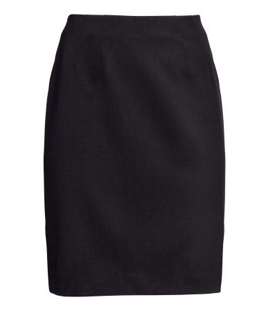 Pencil Skirt - pattern: plain; style: pencil; fit: tailored/fitted; waist: high rise; predominant colour: black; occasions: casual, evening, work, creative work; length: just above the knee; fibres: polyester/polyamide - stretch; pattern type: fabric; texture group: woven light midweight; trends: 1940's hitchcock heroines; season: a/w 2013