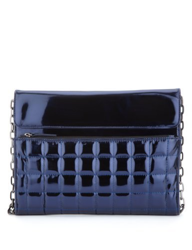 Limited Edition Quilted Clutch Bag - predominant colour: navy; occasions: evening, occasion, creative work; style: clutch; length: hand carry; size: standard; material: faux leather; embellishment: quilted; pattern: plain; finish: metallic; season: a/w 2013