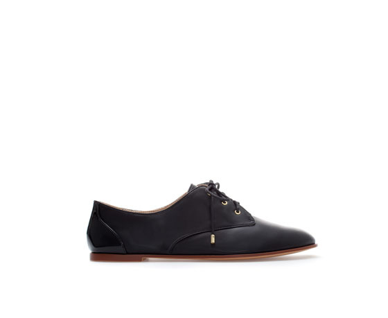 Blucher - predominant colour: black; occasions: casual, work, creative work; material: faux leather; heel height: flat; toe: round toe; finish: plain; pattern: plain; style: lace ups; season: a/w 2013