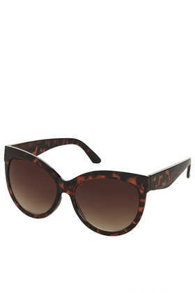 Jackie Drop Lense Sunglasses - predominant colour: chocolate brown; occasions: casual, holiday; style: cateye; size: large; material: plastic/rubber; pattern: tortoiseshell; finish: plain; season: a/w 2013