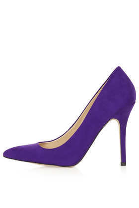 Simple Court Shoes - predominant colour: purple; occasions: evening, work; material: suede; heel: stiletto; toe: pointed toe; style: courts; finish: plain; pattern: plain; heel height: very high; season: a/w 2013