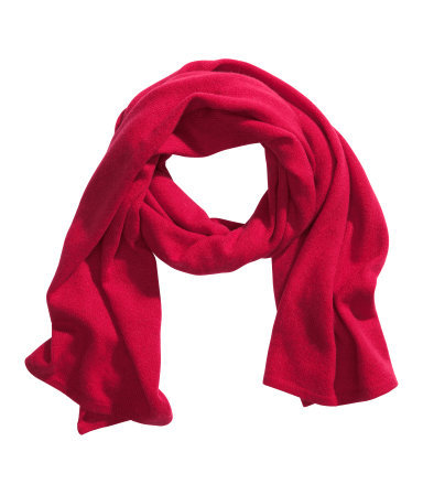 Cashmere Scarf - occasions: casual, work, creative work; style: regular; size: standard; material: knits; pattern: plain; trends: broody brights; predominant colour: raspberry; season: a/w 2013