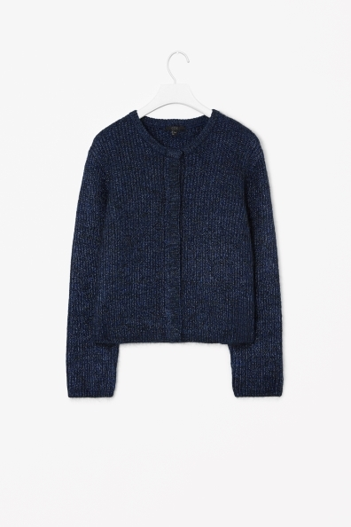 Wool Mohair Cardigan - neckline: round neck; pattern: plain; predominant colour: navy; occasions: casual, work, creative work; length: standard; style: standard; fibres: wool - 100%; fit: standard fit; sleeve length: long sleeve; sleeve style: standard; texture group: knits/crochet; pattern type: knitted - other; trends: broody brights; season: a/w 2013