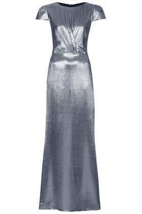 **Limited Edition Lurex Maxi Dress - neckline: round neck; sleeve style: capped; pattern: plain; style: maxi dress; predominant colour: silver; occasions: evening, occasion; length: floor length; fit: body skimming; fibres: silk - mix; sleeve length: sleeveless; texture group: structured shiny - satin/tafetta/silk etc.; pattern type: fabric; trends: 1940's hitchcock heroines, gothic romance; season: a/w 2013