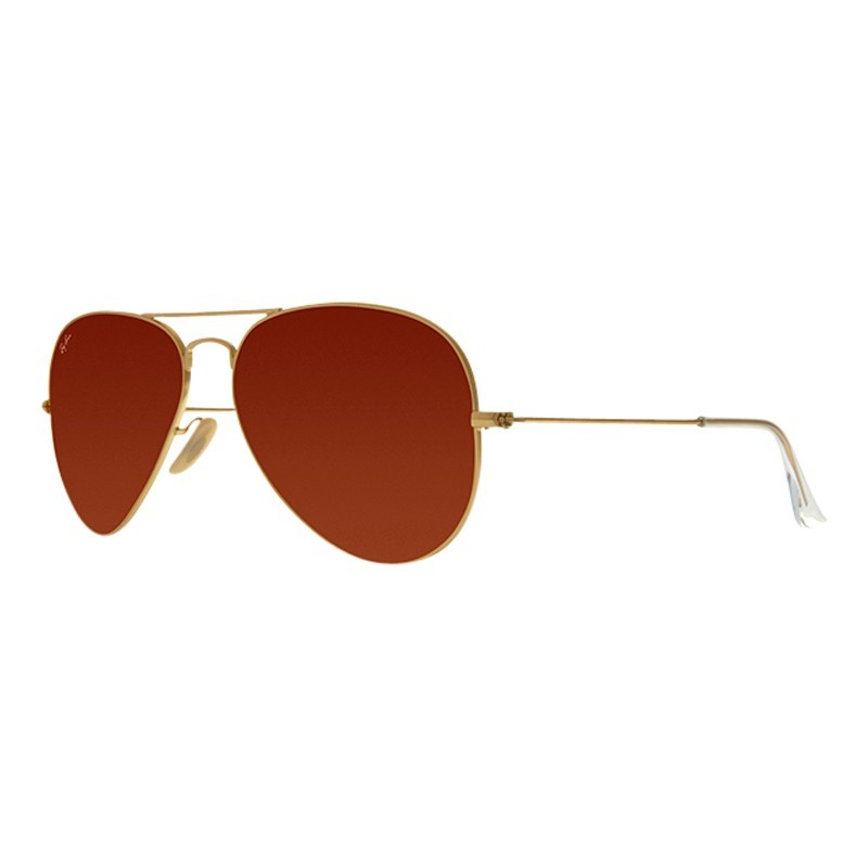Rb3025 Iconic Aviator Sunglasses - predominant colour: terracotta; secondary colour: gold; occasions: casual, holiday; style: aviator; size: standard; material: chain/metal; pattern: plain; finish: metallic; season: a/w 2013