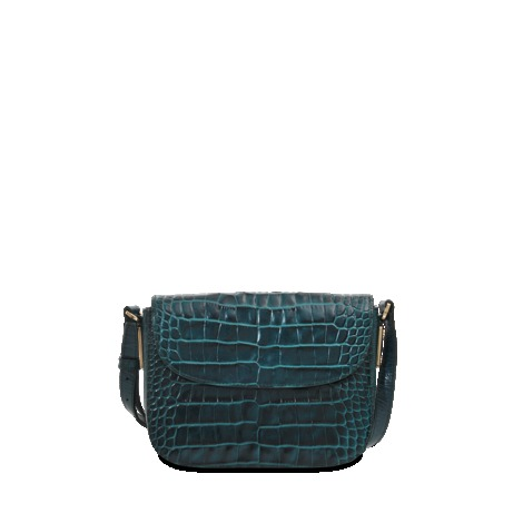 Madia C Hobo - predominant colour: dark green; occasions: casual, creative work; type of pattern: standard; style: shoulder; length: across body/long; size: standard; material: leather; pattern: animal print; finish: plain; season: a/w 2013