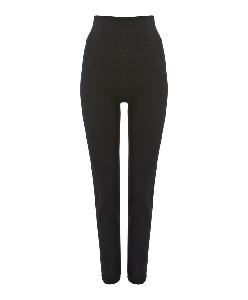 Black Twist Trouser - length: standard; pattern: plain; waist: high rise; predominant colour: black; occasions: casual, evening, work; fit: slim leg; texture group: woven light midweight; style: standard; season: a/w 2013