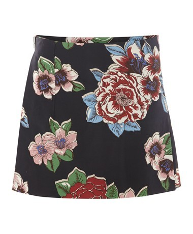 Chita Print Mini Kilt - length: mid thigh; fit: tailored/fitted; waist: mid/regular rise; occasions: casual, evening, creative work; style: fit & flare; fibres: silk - mix; predominant colour: multicoloured; pattern: florals; texture group: woven light midweight; trends: furious florals; season: a/w 2013; pattern size: standard (bottom); multicoloured: multicoloured