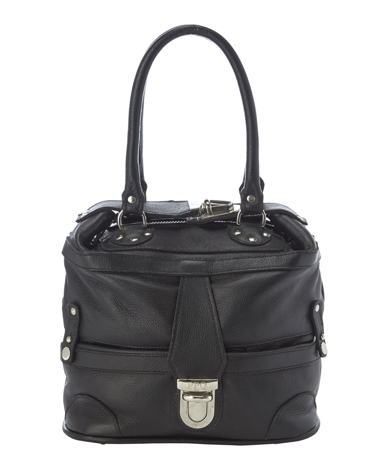 Micro Gabriel Bag - predominant colour: black; occasions: casual, work, creative work; style: tote; length: handle; size: small; material: leather; embellishment: studs; pattern: plain; finish: plain; season: a/w 2013