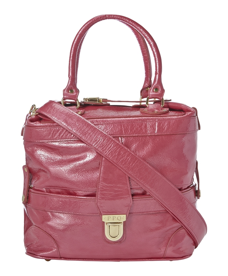 Gabriel Bag - occasions: casual, work, creative work; style: tote; length: handle; size: standard; material: leather; pattern: plain; finish: plain; predominant colour: raspberry; season: a/w 2013