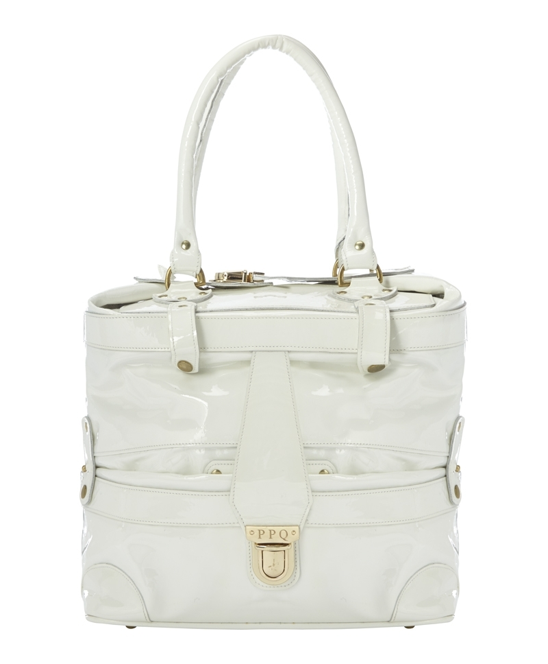 Gabriel Bag - predominant colour: white; occasions: casual, work, creative work; style: tote; length: handle; size: standard; material: leather; pattern: plain; finish: patent; season: a/w 2013